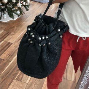 Alexander Wang Diego Pebbled Bag in Navy Blue!